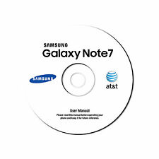 NEW Samsung Galaxy Note 7 Android Cell Phone SM-N930A AT&T ATT User Manual on CD