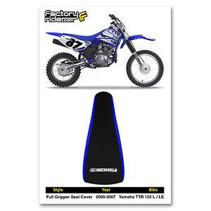 2000-2007 YAMAHA TTR 125 L-LE Blue/Black GRIPPER SEAT COVER BY Enjoy Mfg