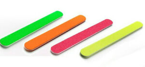 EDGE NEON Nail Files 100/180/240/320 Grit Professional Quality Buffer