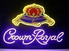 "New Crown Royal Whiskey Beer Pub Bar Neon Light Sign 20""x16"""