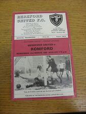 02/03/1966 Hereford United v Romford  (Creased, Writing On Back). Thanks for vie