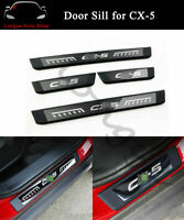 Outside Door Sill Scuff Plate Guard Protector Trim Fits for Mazda CX-5 2017-2021