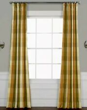 "NEW Exclusive Fabrics Faux Silk Taffeta Plaid Curtain Pole Pocket 50"" X 96"""