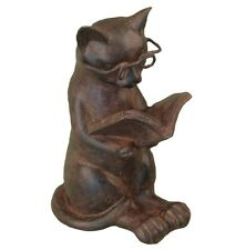 NEW Cat Reading Book Figure - Kitten Lovers Desk Accessory Purr-fect Home Decor