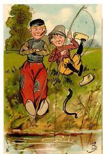 BOB SIGNED TUCK POSTCARDS - LITTLE HOLLANDER -PP-mr2-postmark ALLOA1905