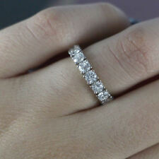 2.50 Ct Round Cut Diamond Engagement Eternity Wedding Band 14k White Gold Finish