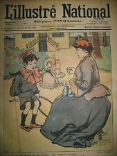 L'ILLUSTRé NATIONAL N° 4  HUMOUR CARICATURE DESSINS GOTTLOB GUILLAUME 1903