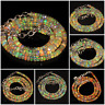 100% Natural Ethiopian Fire Opal Faceted Roundel Beads Necklace  Opal strand.