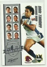 Brisbane Broncos 2012 Season NRL & Rugby League Trading Cards