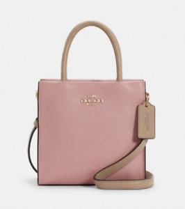 Coach Pink Taupe Leather Mini Cally Crossbody Bag Colorblock Purse NWT 5691