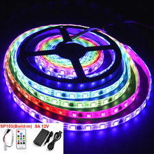 16.4ft 12V RGB 2811 Waterproof White PCB 300 LED Strip Light kit set