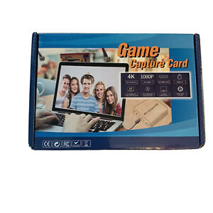 HDMI to USB 3.0 Game Capture Card Audio Video Live Streaming 4K Input 1080P