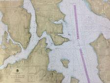 NAUTICAL CHART 18449 Seattle to Bremerton, Puget Sd, SAIL KAYAK CRAFT WALLPAPER