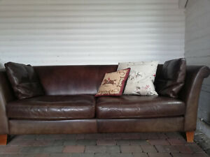 machalke ledersofa -braun 3-Sitzer- hochwertiges 'englisches Saddle Leather'