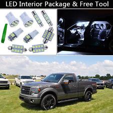 11PCS Xenon White LED Car Interior Lights Package kit Fit 2013-2015 FORD F150 J1