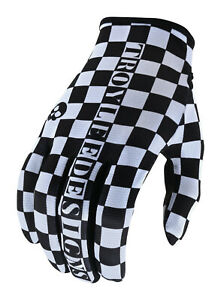 Troy Lee Designs Flowline Gloves - Checkers White Black - Motocross Off-Road BMX