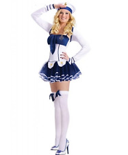 Ladies Sexy Sailor Costume Outfit 4 Piece Dress Cap Bolero & Thong Size 10-12