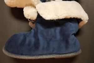 Cuddl Duds Women's Snuggle Up Faux Fur Cuddle Slipper Booties NAVY Size 5-6