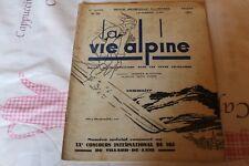 LA VIE ALPINE 39  revue du régionalisme dans les alpe française 1931