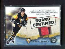 Mario Lemieux Penguins 2001 Fleer Board Certified Joe Louis Arena jhxb8