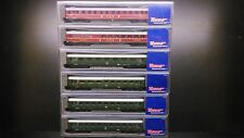 ROCO 24554 - 24550, Passenger Car 6 pieces /  N 1:160 + Box, NEW