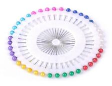40 Dress Making Pins Round Bead Rosette for Sewing-Tailor-Hijab Wrap Needle-GN