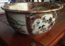 19th C. Meiji Period Satsuma Large Centerpiece Bowl