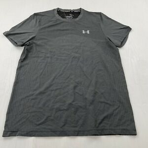 NEW UNDER ARMOUR MEN'S THE SEAMLESS WAVE SHORT SLEEVE  Marled GRAY Large