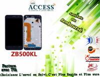ECRAN LCD + VITRE TACTILE + FRAME pour ASUS ZENFONE GO ZB500KL et X00AD NOIR