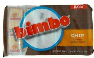 BIMBO CHIP COOKIES GALLETAS BIMBO CHIP Candy Sweets (Bag of 10 Packs)