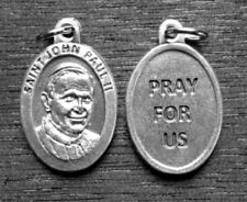 "Pope St John Paul II  / Pray for Us   Oxidized Medal (7/8"" x5/8"")"