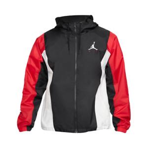 Jordan Jumpman Air Jacket Men's Black Gym Red Windbreaker Outwear Activewear Top