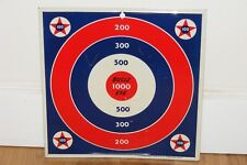 VTG KNICKERBOCKER PLASTICS CO Tin Litho Bull's Eye Board Target For Dart Guns