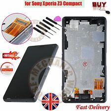 For Sony Xperia Z3 Mini Compact D5803 LCD Touch Screen Digitizer Frame Assembly