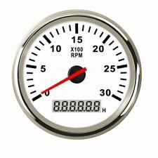 85mm Waterproof Marine Tachometer Gauge LCD Tacho Digital Hour Meter 0-3000RPM