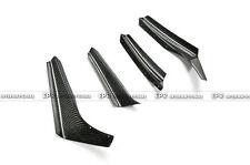 Pop 4Pcs Front Bumper Canard Splitter Protect For BMW 95-99 E36 M3 Carbon Fiber