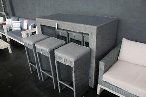 Carlton - 7 Piece Outdoor Bar Table Setting - Aluminium Frame with PE Wicker
