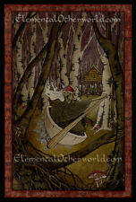 Baba Yaga PRINT A4 Slavic folklore, dark fairy tale, witch crone art by M.Maiden