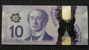 CANADA $10 Dollars 2015 P107c Wilkins/Poloz UNC Polymer Banknote