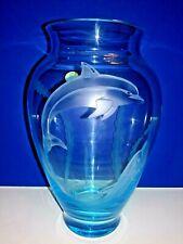 LENOX SEA SPLENDOR DOLPHIN VASE Art Glass  New