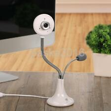 USB 2.0 HD Webcam Web Camera with MIC Adjustable for Skype Video Chat White
