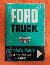 1964 Ford F-Series F100 F250 F350 Truck P-Series Van ORIGINAL OWNER'S MANUAL
