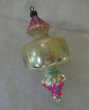 Antique Vtg Spinning Top GLASS German Figural Xmas Ornament - Germany