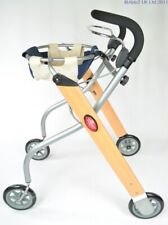 Lets Go Indoor Rollator - Beech/Silver/Black - MOBILITY AID WALKING FRAME WALKER