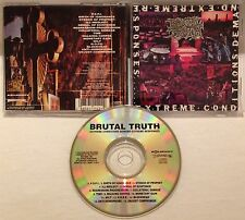 Brutal Truth - Extreme Conditions Demand Extreme Responses CD 1992 RELATIVITY