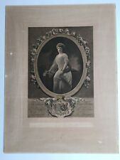 Engraving Royalty Princess Henriette of Belgium, Duchess of Vendôm signed