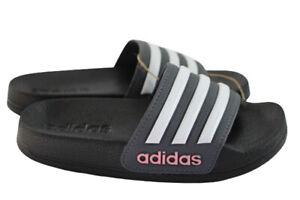 adidas Kids' Adilette Shower Slides Black & White FY8841 Size 10K