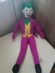 Rare DC Comics Joker Plush Doll Large Batman Creepy Face 2011 See Photos!