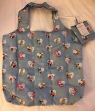 Cath Kidston Alice in Wonderland Tote Bag Blue Heart Mad Hatter Rabbit Reuse