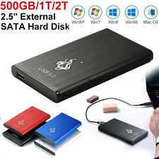 USB 3.0 2TB External Hard Drives HDD Portable Desktop Mobile Hard Disk Case SATA